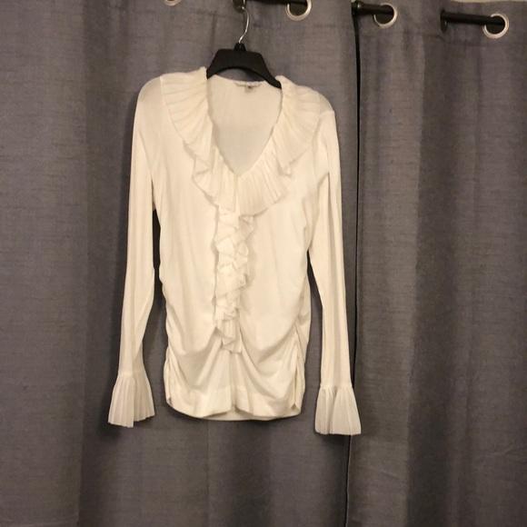 873621e30efc3 CAbi Tops | White Long Sleeve Dressy Blouse | Poshmark